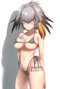 Rating: Questionable Score: 12 Tags: blush highleg_panties kemono_friends looking_at_viewer micro_bikini navel queen_of_hearts_tattoo shoebill side-tie_bikini stomach tattoo white_man's_whore User: AA