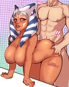 Rating: Questionable Score: 27 Tags: 1boy 1boy1girl 1girl ahsoka_tano alien blue_eyes blush breasts bubble_butt curvy doggy_style huge_breasts interspecies jakuson_z orange_skin puffy_nipples sex star_wars togruta voluptuous User: Gognar