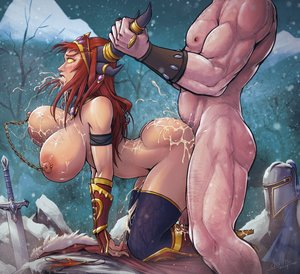 Rating: Explicit Score: 18 Tags: 1boy 1girl alexstrasza ambiguous_penetration ass blush boots bouncing_breasts breasts by_the_horns clenched_teeth cloak crying crying_with_eyes_open cum cumdrip cum_in_mouth cum_on_ass cum_on_back cum_on_breasts cum_on_clothes cum_string devil_hs doggy_style domination excessive_cum fantasy_race femsub from_behind gloves heels helmet horns huge_ass huge_breasts implied_sex jewelry large_filesize larger_male looking_pleasured maledom muscular muscular_male nervous nipple_piercings outside panties pierced_nipples pubic_hair public red_hair rolling_eyes rough_sex sex size_difference skin_edit skin_edit_(male) smaller_female snow surprised sword tears thicc thigh_highs warcraft white_male world_of_warcraft yellow_eyes User: sugarsparkles