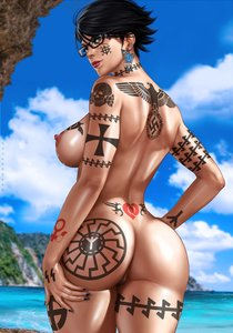 Rating: Explicit Score: 26 Tags: 1488 1girl back_tattoo bayonetta bayonetta_(character) beach black_hair black_sun celtic_cross dandon_fuga edit glasses maximus nude queen_of_hearts_tattoo reichsadler short_hair solo ss tattoo totenkopf water white_female wolfsangel User: GoodHunter