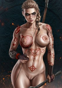Rating: Explicit Score: 39 Tags: abs aryan_female assassin's_creed assassin's_creed_valhalla blonde_hair blue_eyes bow braided_hair breasts celtic_cross dandon_fuga eivor heart_vine_tattoo nude nude_female pussy queen_of_hearts_tattoo shaved_pussy tattoo tattoos thick_thighs toned_female User: TheWhiteFlash