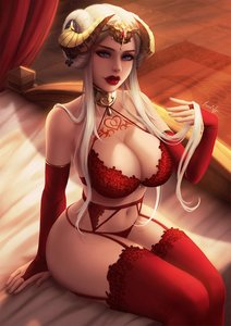 Rating: Questionable Score: 45 Tags: 1girl arm_warmers big_ass big_breasts blue_eyes edelgard edit female_focus fire_emblem garter_belt horns lingerie lips long_hair looking_at_viewer luminyu partially_clothed queen_of_hearts queen_of_hearts_tattoo red_lips skimpy_clothes solo_female tattoo thick_thighs thigh_high_stockings thigh_highs white_female white_hair wide_hips User: Gognar