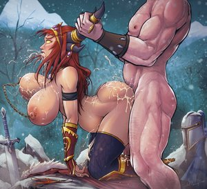 Rating: Explicit Score: 21 Tags: 1boy 1girl alexstrasza ambiguous_penetration ass blush boots bouncing_breasts breasts by_the_horns clenched_teeth cloak crying crying_with_eyes_open cum cumdrip cum_in_mouth cum_on_ass cum_on_back cum_on_breasts cum_on_clothes cum_string devil_hs doggy_style domination excessive_cum fantasy_race femsub from_behind gloves heels helmet horns huge_ass huge_breasts implied_sex jewelry large_filesize larger_male looking_pleasured maledom muscular muscular_male nervous nipple_piercings outside panties pierced_nipples pregnant pubic_hair public red_hair rolling_eyes rough_sex sex size_difference skin_edit skin_edit_(male) smaller_female snow surprised sword tears thicc thigh_highs warcraft white_male world_of_warcraft yellow_eyes User: sugarsparkles