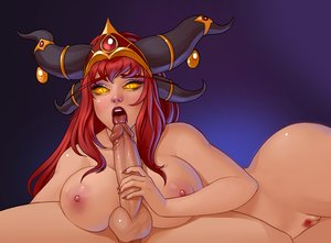 Rating: Explicit Score: 23 Tags: alexstrasza aspect big_breasts blizzard blowjob bwc dragon_girl fantasy_race glowing_eyes hand_on_penis horns monster_girl open_mouth red_hair red_lips white_male wide_hips world_of_warcraft User: Revenant