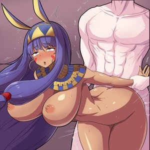Rating: Explicit Score: 15 Tags: 1boy 1girl african_female ambiguous_penetration animal_ears areolae ass bent_over big_ass big_breasts blush bouncing_breasts breasts dark_skin dark-skinned_female drool egyptian fate/grand_order fate_(series) grabbing long_hair makeup muscular muscular_male nipples nitocris nude open_mouth pierced_ears purple_eyes purple_hair rolling_eyes rough_sex sex skin_edit skin_edit_(male) standing sweat tanaken tears thick_thighs wide_hips User: AnikiBleach