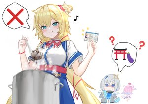 Rating: Questionable Score: 5 Tags: 3girls 6mint akai_haato amane_kanata aqua_eyes arms_up asian_female bleached blonde_hair chibi clothed clothed_female confused cooking dress edit female_only fully_clothed happy himemori_luna hololive identification_card large_breasts long_hair looking_at_another looking_down not_porn running scared skin_tight_clothing sweat sweatdrop tongue_out virtual_youtuber white_background white_property_registration white_supremacy User: Sphaeraeus
