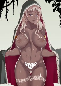 Rating: Explicit Score: 38 Tags: areolae artist_request blue_eyes breasts cloak dark-skinned_female dark_skin earrings female huge_breasts naked nipples pubic_hair queen_of_hearts queen_of_hearts_tattoo sweat thick_thighs wide_hips womb_tattoo User: Herachi
