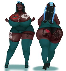 Rating: Questionable Score: 20 Tags: african_female ass big_ass big_breasts breasts chubby dark_skin dark-skinned_female fat huge_ass huge_breasts nessa nintendo no_niggers pokemon pokemon_sword_and_shield swastika swastika_tattoo tagme tattoo User: TacSam