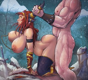 Rating: Explicit Score: 9 Tags: 1boy 1girl alexstrasza ambiguous_penetration ass blush boots bouncing_breasts breasts by_the_horns clenched_teeth cloak devil_hs doggy_style domination fantasy_race femsub from_behind gloves heels helmet horns huge_ass huge_breasts implied_sex jewelry large_filesize larger_male maledom muscular muscular_male nervous nipple_piercings outside panties pierced_nipples pregnant pubic_hair public red_hair rough_sex sex size_difference skin_edit skin_edit_(male) smaller_female snow surprised sword thicc thigh_highs vaginal_juices vaginal_juices_everywhere vaginal_juice_trail warcraft white_male world_of_warcraft yellow_eyes User: sugarsparkles