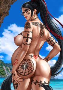 Rating: Explicit Score: 22 Tags: 1488 1girl back_tattoo bayonetta bayonetta_(character) beach black_hair black_sun celtic_cross dandon_fuga edit glasses long_hair maximus nude pregnant queen_of_hearts_tattoo reichsadler solo ss tattoo totenkopf water User: GoodHunter
