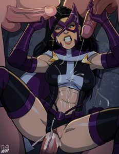 Rating: Explicit Score: 21 Tags: 1girl 3boys abs black_hair blue_eyes blush cum cum_in_pussy cum_inside cum_on_abs cum_on_face dc_comics foursome gloves handjob huntress long_hair looking_at_viewer penis_grab pumpkinsinclair sex skin_edit superhero vaginal_penetration white_female white_male User: KAZANOVA