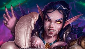 Rating: Explicit Score: 23 Tags: blizzard blue_hair breasts bwc cum_in_mouth cum_on_breasts cum_on_face elf fantasy_race long_nails night_elf open_mouth pointy_ears skin_edit skin_edit_(male) vincentcc world_of_warcraft User: RayzorSharp