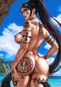 Rating: Explicit Score: 40 Tags: 1488 1girl bayonetta bayonetta_(character) beach black_hair black_sun celtic_cross dandon_fuga edit glasses long_hair maximus nude pierced_ears pubic_hair queen_of_hearts_tattoo reichsadler ss swastika tattoo totenkopf water white_female wolfsangel User: GoodHunter
