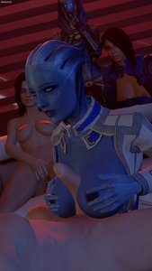 Rating: Explicit Score: 12 Tags: 1boy 3d 4girls alien areolae ashley_williams big_breasts blue_eyes blue_skin breasts fantasy_race liara_t'soni mass_effect masturbation miranda_lawson multiple_girls nipples quarian sfmlover22 tali'zorah titty_fuck voyeurism white_female User: KAZANOVA
