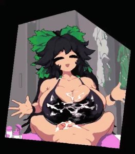 Rating: Explicit Score: 39 Tags: alternative_bust_size animated breasts fantasy_race huge_breasts looking_at_viewer oil one-piece_swimsuit pixel_animation reiuji_utsuho takorin titty_fuck touhou wings User: NovaThePious