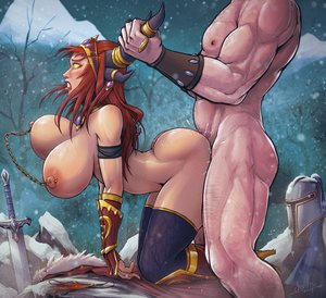 Rating: Explicit Score: 15 Tags: 1boy 1girl alexstrasza ambiguous_penetration ass blush boots bouncing_breasts breasts by_the_horns clenched_teeth cloak cum cum_on_ass cum_string devil_hs doggy_style domination fantasy_race femsub from_behind gloves heels helmet horns huge_ass huge_breasts implied_sex jewelry large_filesize larger_male maledom muscular muscular_male nervous nipple_piercings outside panties pierced_nipples pubic_hair public red_hair rough_sex sex size_difference skin_edit skin_edit_(male) smaller_female snow surprised sword thicc thigh_highs warcraft white_male world_of_warcraft yellow_eyes User: sugarsparkles