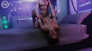 Rating: Explicit Score: 25 Tags: 1boy 1girl 3d black_hair breasts closed_eyes cyberpunk_2077 dark_skin dark-skinned_female dreadlocks holding_hands huge_breasts long_hair muscular muscular_male nipples panam_palmer sex vaginal_penetration white_male User: KAZANOVA